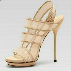 Gucci  Bette mesh slingback heels